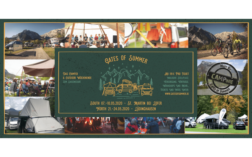 CAMPinie auf den Gates of Summer Events